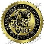 Universal Life Church Embossed Certificate Seal, logo style