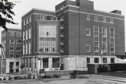My Uncle Bob who emigrated to Australia in1970 worked here. I can remember him coming home with blue hands!!  New Hexagon House, ICI dyestuffs division 1958, Blackley, Manchester.