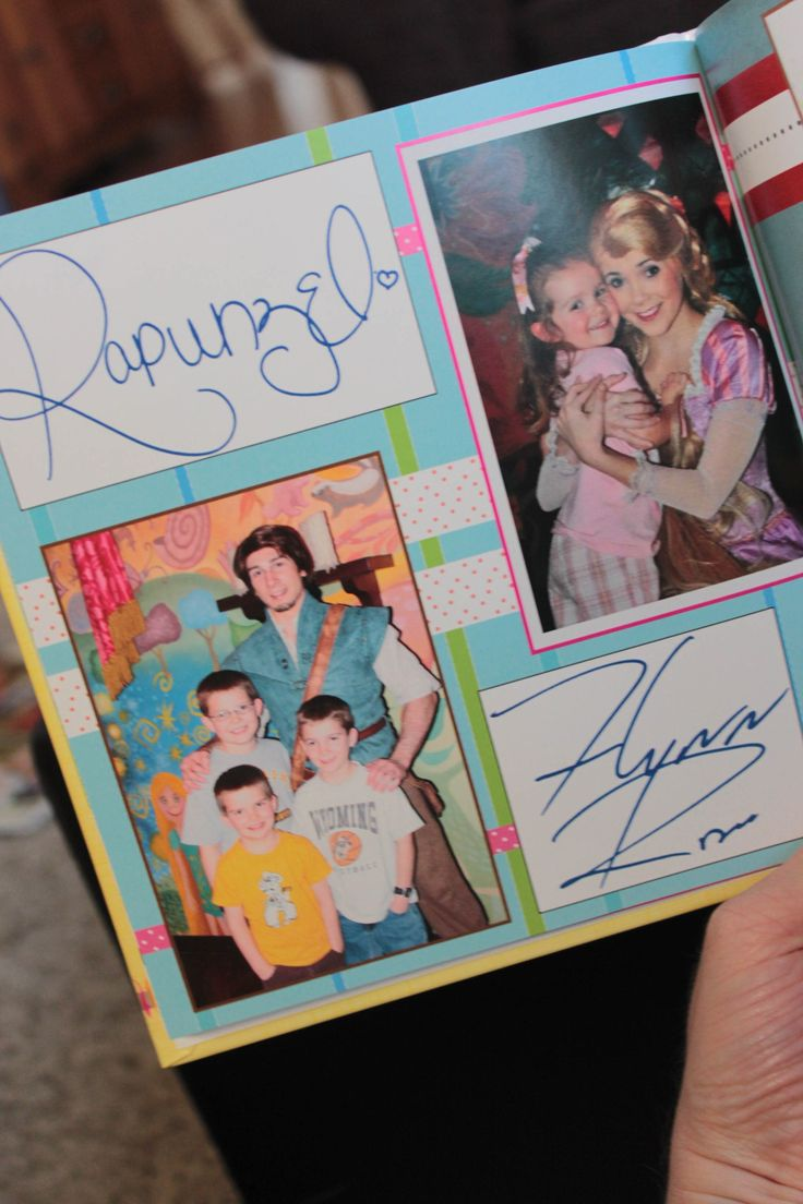 How to scrapbook disney vacation - One Of My Favorite Photography Projects Is The Disneyland Character Autograph Book I Made After Our Second Trip To Disneyland In March Of