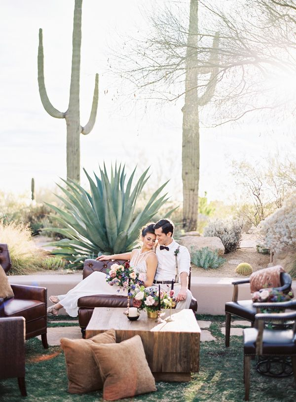 reception lounge area - photo by Brushfire Photography http://ruffledblog.com/masculine-edgy-wedding-inspiration