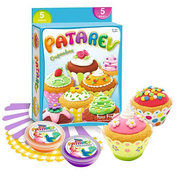 Patarev cupcakes | Pasta para modelar, Cupcakes y Manualidades