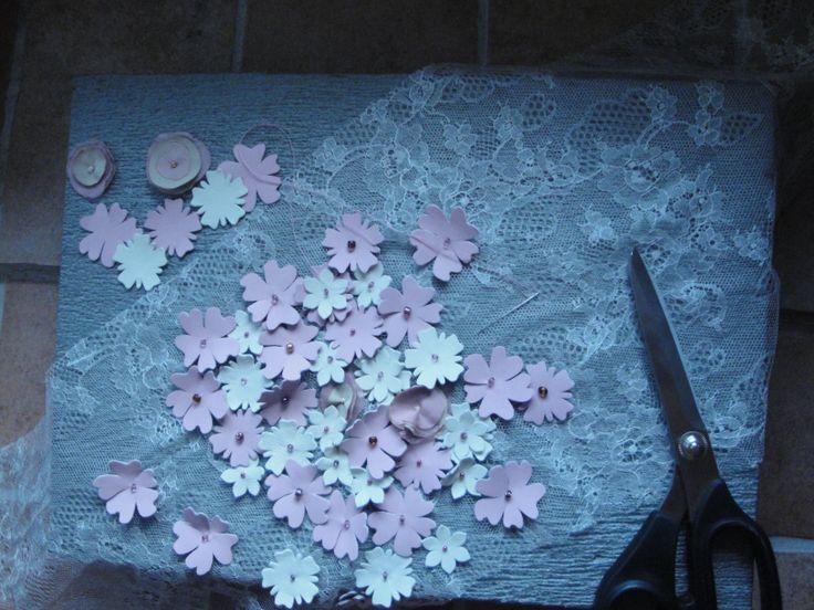 Leather Flower lace dress. Haute Couture by Alena Slamjakova