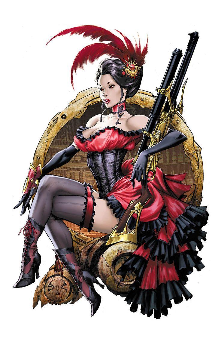 Lady M Saloon Girl Print by ~joebenitez on deviantART