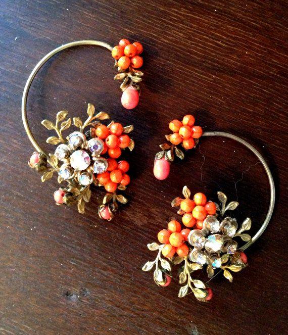 Vintage Orange Unique Earrings on Etsy, $28.00