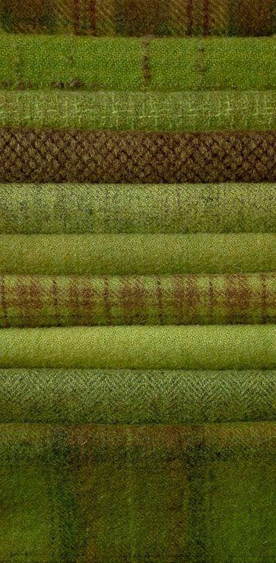 Green tweeds - beautiful tones!