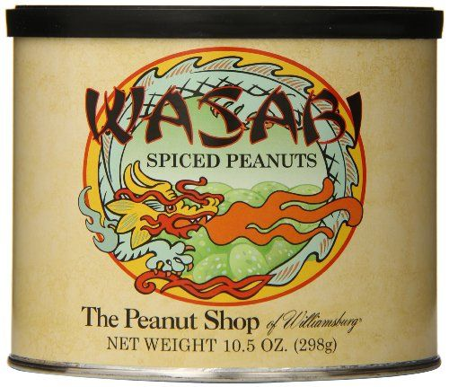 The Peanut Shop of Williamsburg Wasabi Seasoned Peanut Tin 105 Ounce >>> Visit the image link more details. Note:It is affiliate link to Amazon.