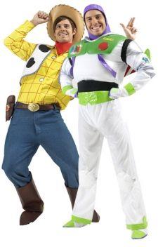Buzz L\u0027Éclair et Woody, héros du célèbre dessin animé Toy Story des studios