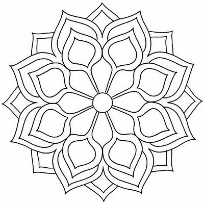 MULTY PATRON: mandalas-- with more detailing and rich colors, this would make an excellent shoulder tattoo. #illustration