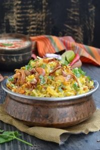Vegetable Dum Biryani is a Mughlai dish which is made by slow cooking the rice and vegetables. Although this method takes time, the end result is delicious.