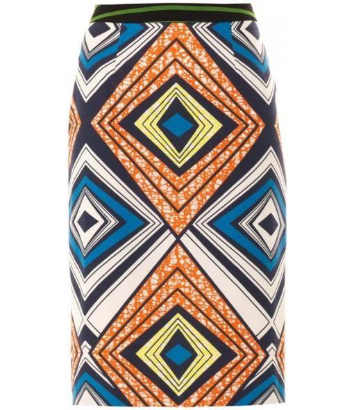 Multicoloured diamond tribal print, c