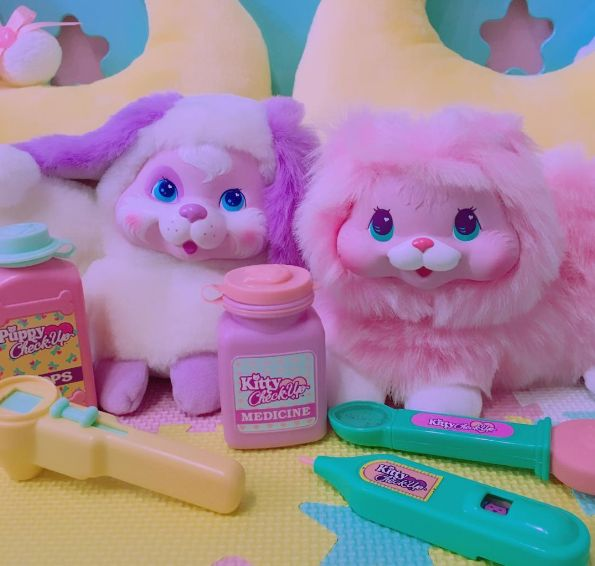 Kawaii Kitties! www.CuteVintageToys.com    Hundreds Of Precious Vintage Toys From The 80s & 90s FOR SALE Now! Use The Coupon Code PINTEREST For 10% Off Your ENTIRE Order!   Dozens of G1 My Little Pony, Polly Pockets, Popples, Strawberry Shortcake, Care Bears, Rainbow Brite, Moondreamers, Keypers, Disney, Fisher Price, MOTU, She-Ra Cabbage Patch Kids, Dolls, Blues Clus, Barney, Teletubbies, ET, Barbie, Sanrio, Muppets, Sesame Street, & Fairy Kei Cuteness....