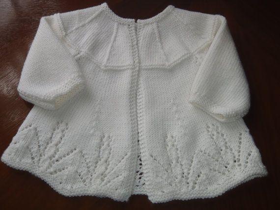 Heirloom Quality Hand Knit Cashmere Merino Silk Vintage Style Matinee Jacket