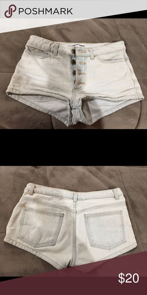 American Apparel light blue shorts Tight american apparel shorts for petite girls. Worn but still in good use. American Apparel Shorts Jean Shorts