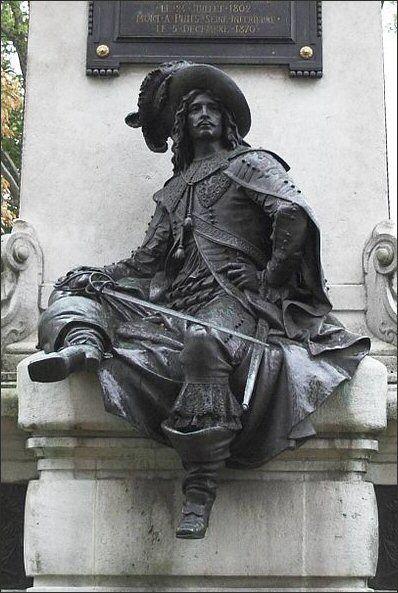 La statue d'Artagnan à Paris ... rue d'Artagnan - Paris 12ème Ironie de l'histoire, D'Artagnan et Richelieu sont plusieurs fois cousins !
