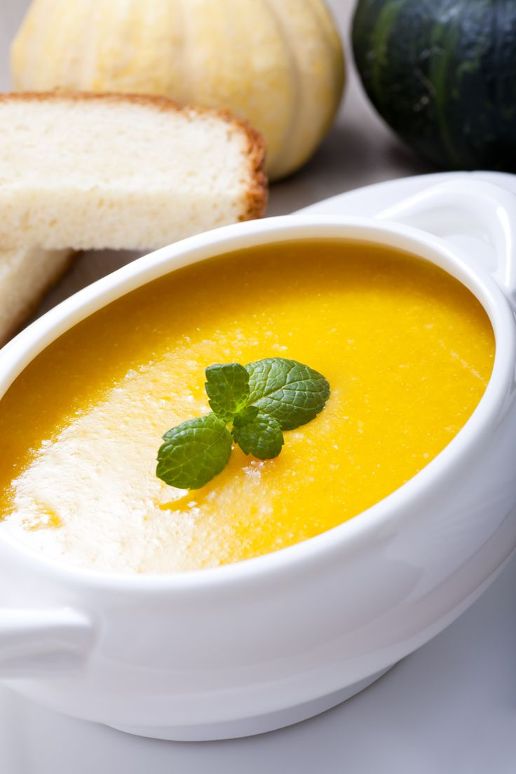 Warm up with this delicious Curried Pumpkin Soup recipe. Nutrition: 156 calores, 3 g protein, 4 g fibre per serving.