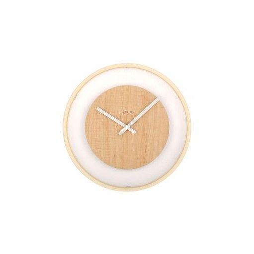 Horloge murale en bois Nextime - Wood Loop bois clair 3046 sur blacklist.me