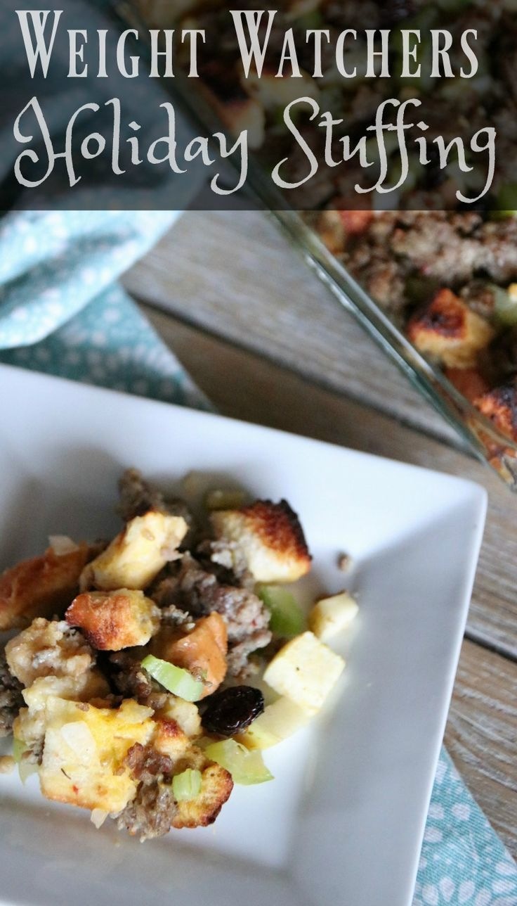 I am excited to share with you my Weight Watchers Sausage Stuffing. A delicious recipe simple to make with minimal ingredients! Only 2 SP per serving.
