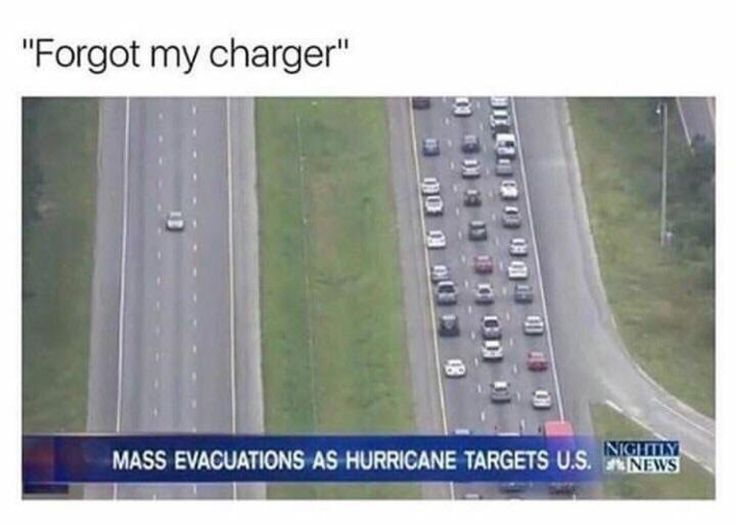 the car is like FUCK.THE HURRICANE I NEED MY FUCKING CHARGER