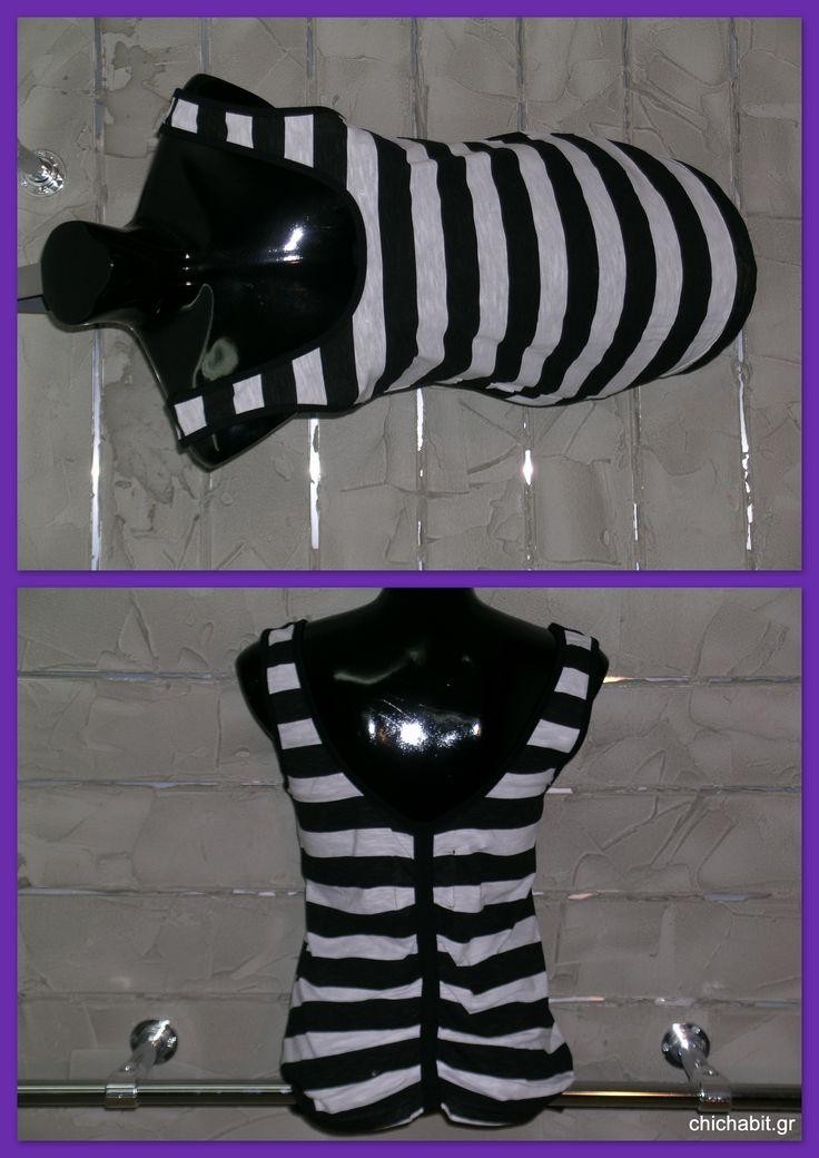 v-back top(black n white)