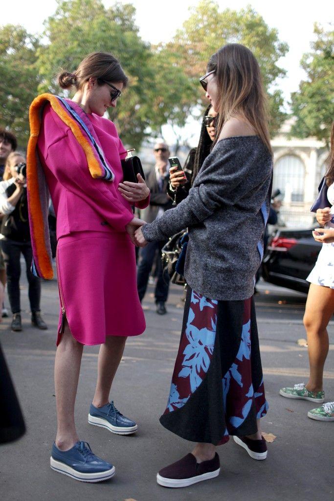 Paris Fashion Week street style. [Photo by Kuba Dabrowski]