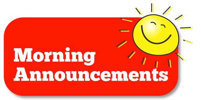 Clipart for Morning Announcements | Morning announcements, Announcement, Clip  art