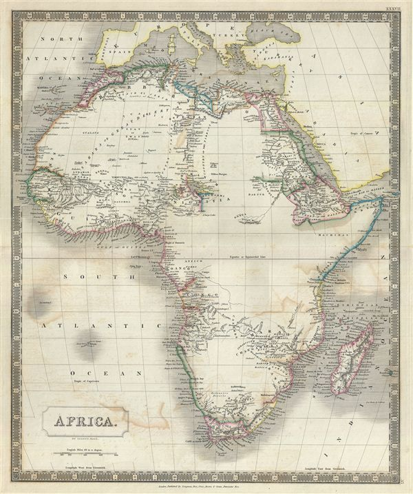 1835 map of Africa