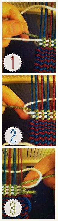 An easy tip for managing rigid heddle color changes, which won't leave you with hanging weft tails at the selvedges!