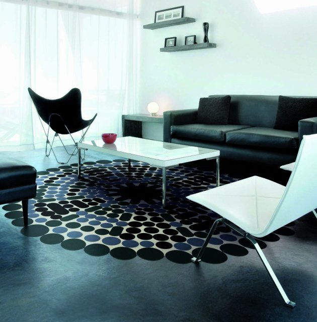 Elegant Creative Circle Leather Rugs Design From Pachamama Uni Wall Interior Picture