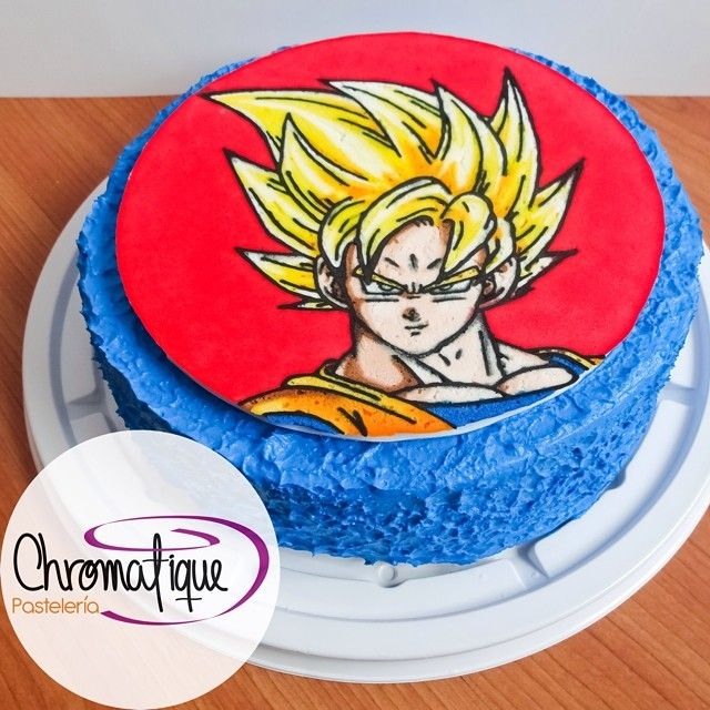 Dragon Ball Z Goku Cake (Torta de Dragon Ball Z Goku) https://www.facebook.com/ChromatiquePasteleria