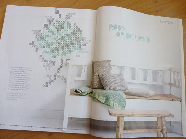 Eline Pellinkhof: Mijn kruissteek roos in de At Home!