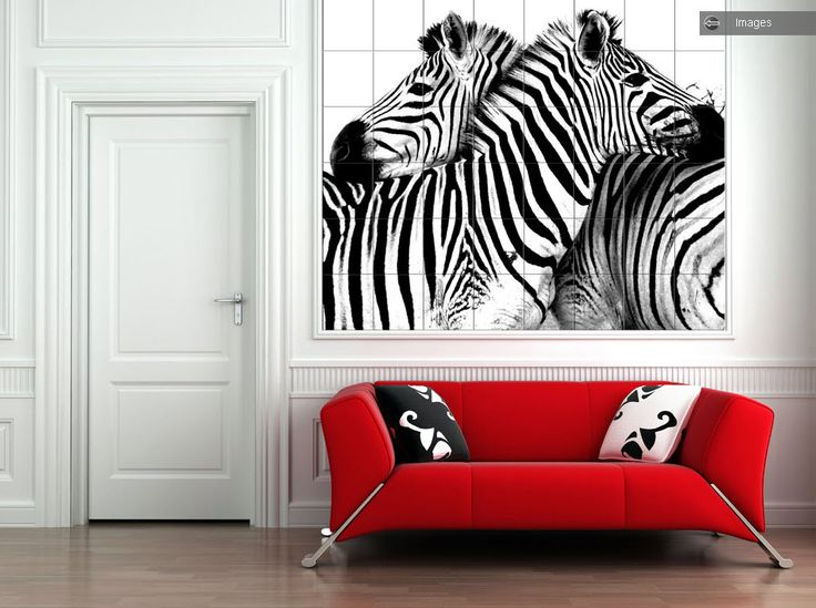 Zebra Hall Wall Tiles Black White
