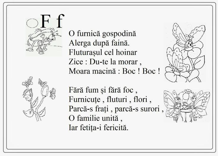 alfabetul limbii romane pentru copii in versuri - M m - Google Search