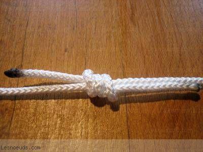 noeud de pêcheur: les marins le reconnaissent comme le plus sûr de tous les noeuds destinés à mettre bout à bout deux cordages, qu'il s'agisse de fines lignes de pêche ou de grosses amarres. on peut, dans certaine mesure, l'utiliser avec deux cordages de sections et de raideurs différentes.  le noeu