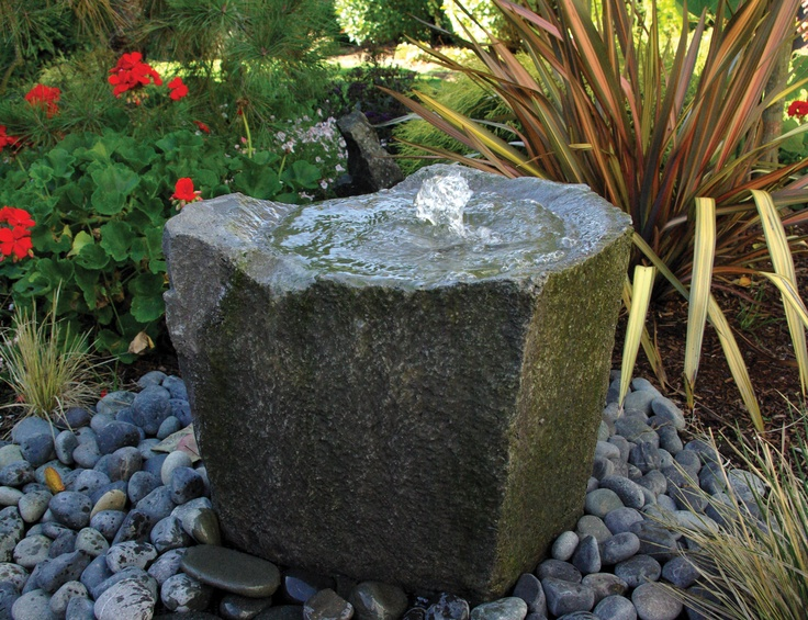 36 best disappearing water fountains images on pinterest for Build outdoor rock water fountains