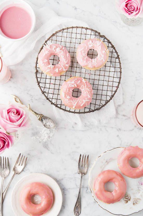 Donuts rose pastels, une idée gourmande et poétique