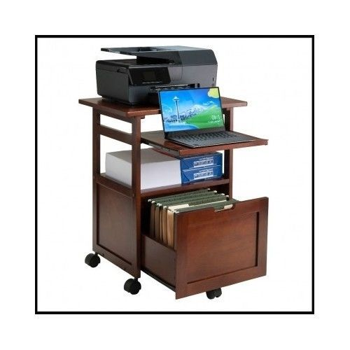 Rolling-Storage-Cart-Office-Computer-Station-Drawer-Printer-Home-Wood-Organizer