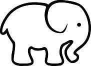 elefant ausmalbild
