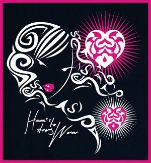 here's to strong women #tshirtdesign #tshirtprint  #tinygecko