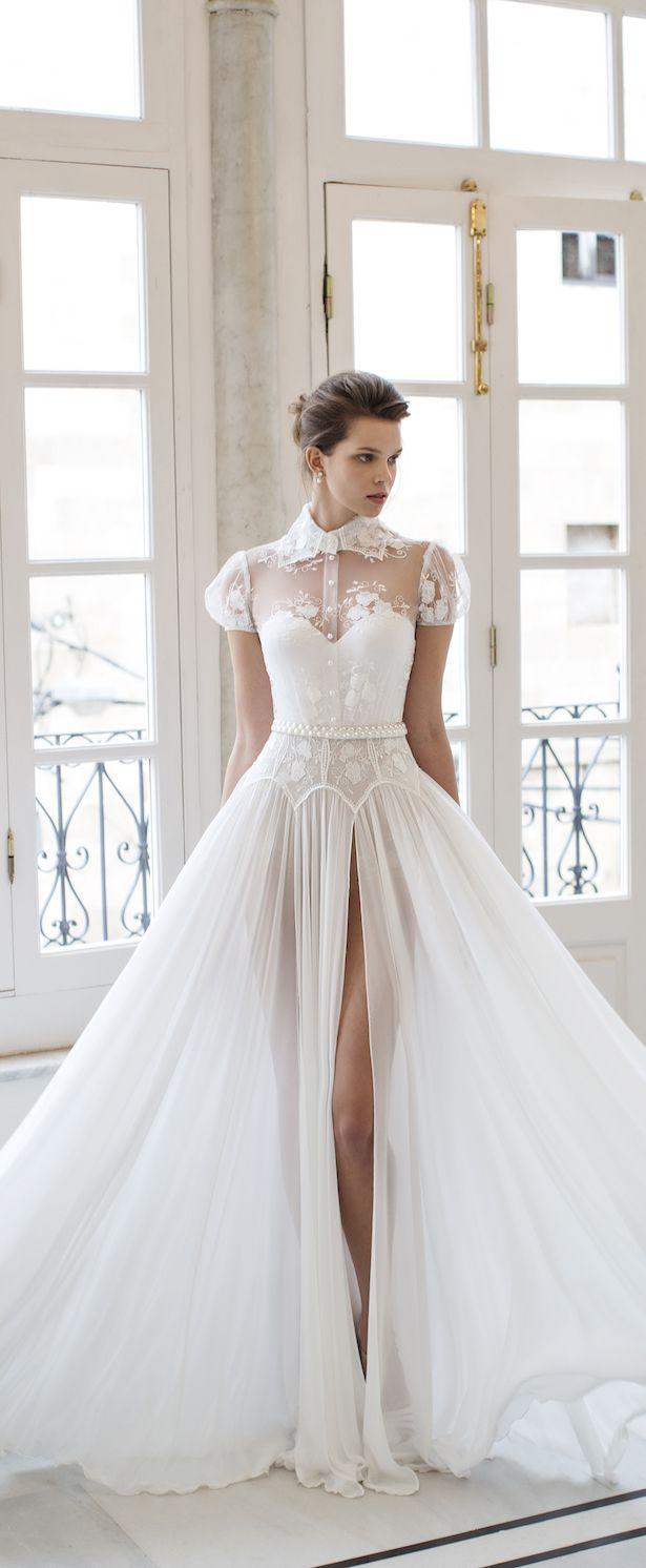 Unique, sexy sheer wedding dress | Riki Dalal 2016 Verona Wedding Dress Collection via @BelleMagazine #vestidodenovia | # trajesdenovio | vestidos de novia para gorditas | vestidos de novia cortos http://amzn.to/29aGZWo