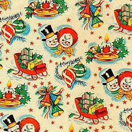Vintage X-Mas Wrap, Awesome!