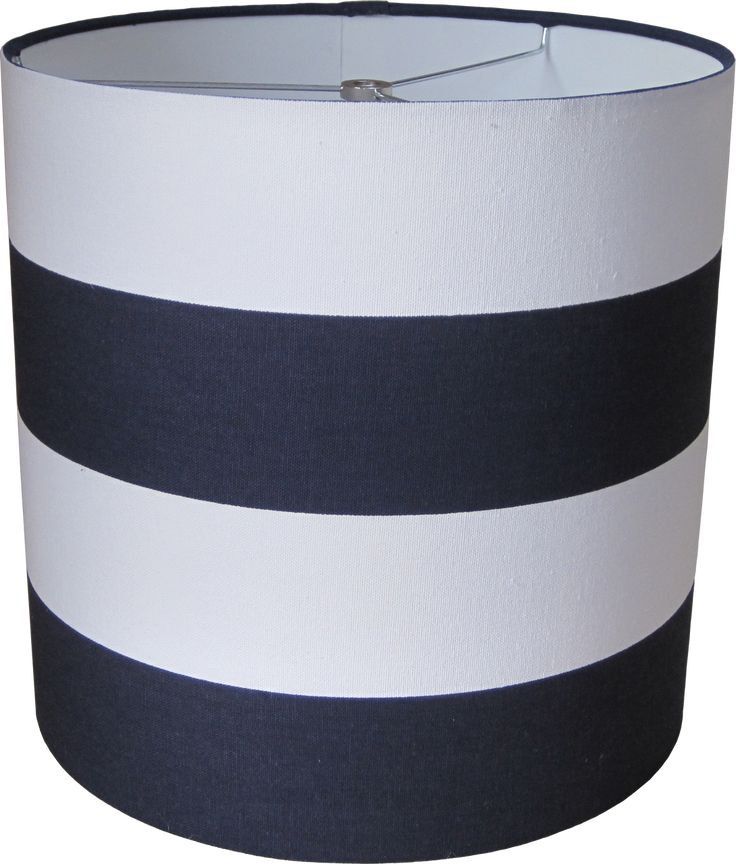 navy blue and white striped lamp shade drum. Black Bedroom Furniture Sets. Home Design Ideas