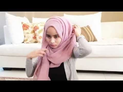 Messy Pinless Hijab Tutorial | @khaleedaalidrus - YouTube