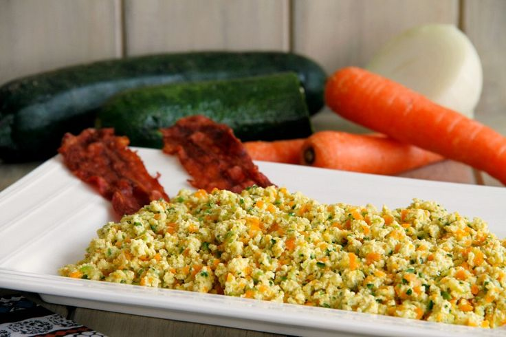 Revuelto de verduras con beicon crujiente, para dos - MisThermorecetas