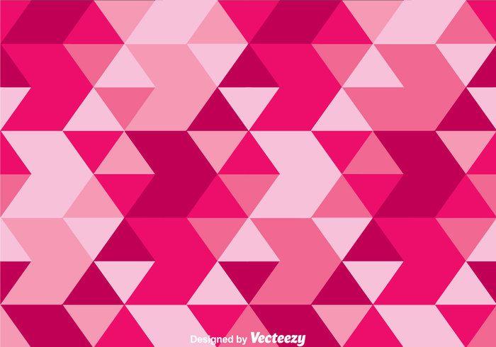 Triangle Pink Camo Vector 144571