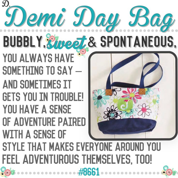 "What's your Thirty-One  purse-onality? Spring/Summer 2017 online party game   ""Demi Day Bag"""