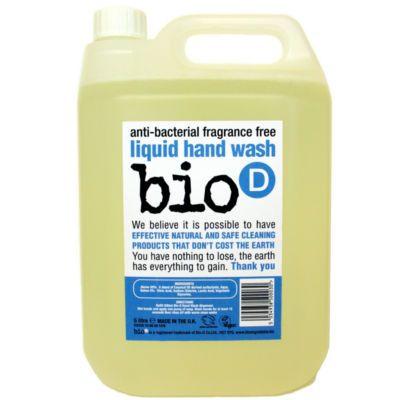 Υγρό σαπούνι για τα χέρια χωρίς άρωμα και με γρήγορη δράση, σε οικονομική συσκευασία των 5 λίτρων. Σκοτώνει κατά 99,9% τα βλαβερά βακτηρίδια χωρίς να ερεθίζει το δέρμα σας. • Προϊόν ελεγμένο σύμφωνα με το Πρότυπο BS EN 1276 • Σκοτώνει κατά 99,9% βλαβερά μικρόβια όπως E. Coli, σαλμονέλα, χρυσίζων στα ...