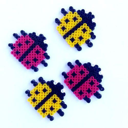 Ladybugs hama mini beads