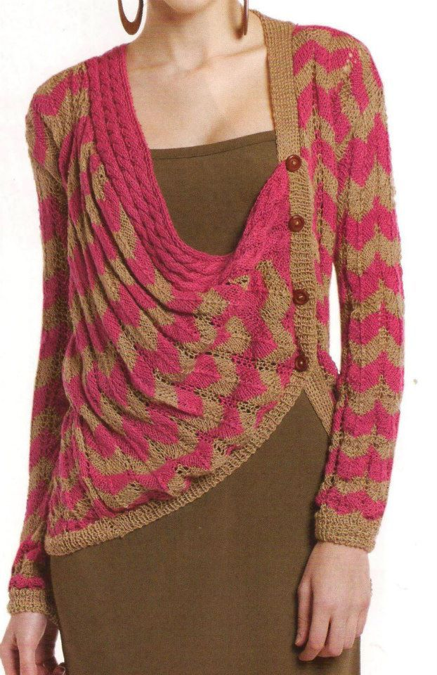 The link does not work to find out more but this is such a clever and elegant result in this knit..AJ