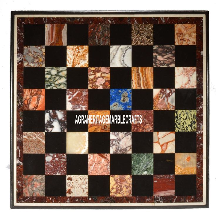 "24"" Multi Marble Chess Coffee Table Marquetry Inlay Semi Stones Furniture Decor #AgraHeritageMarbleCrafts #ArtsCraftsMissionStyle #Marble #Chess #Coffee #Table #Furniture #PlayGame #Handmade #KitchenTable #HomeDecor #GamingTable"