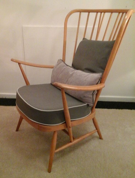 Ercol Mid Century Evergreen Easy Chair Model By